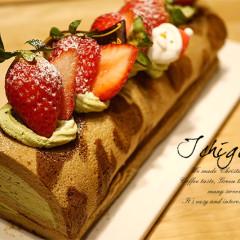 ヒョウ柄ロールケーキ